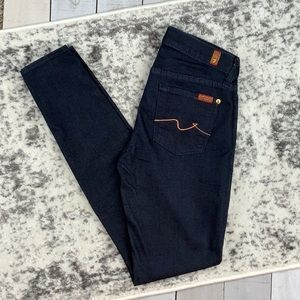 7 For All Mankind The Skinny dark wash jeans